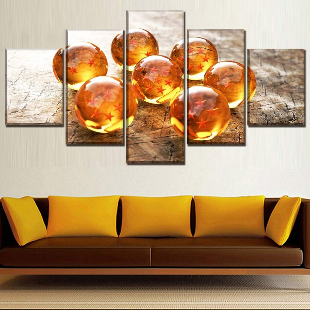 Amazon.com: TRDT Living Room Wall Paintings Decor 5 Piece ...