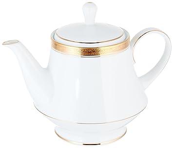 Amazon.com | Noritake Crestwood Gold Tea Pot: Teapots: Teapots