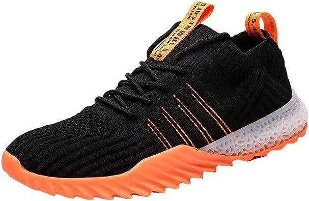 JiaMeng Zapatos para Correr Hombre Zapatillas de Deporte Ligeras de Malla, Transpirables, Zapatillas Deportivas Tejidas a la Moda de Entrenamiento para Hombre: Amazon.es: Zapatos y complementos