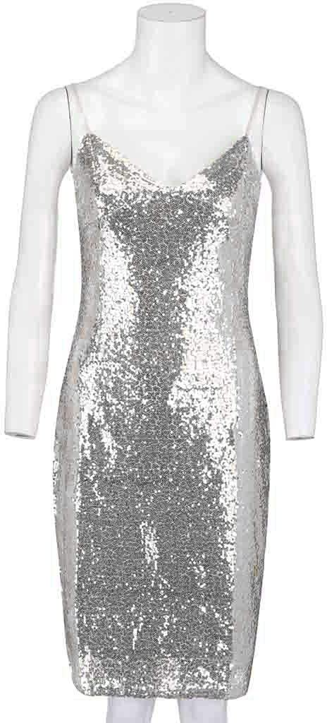 Silver,M Bodycon Dresses For Women Fashion Cross V-Neck Sleeveless Strap Sequins Bodycon Party Casual Dress For Anniversary,Party,Valentines Day