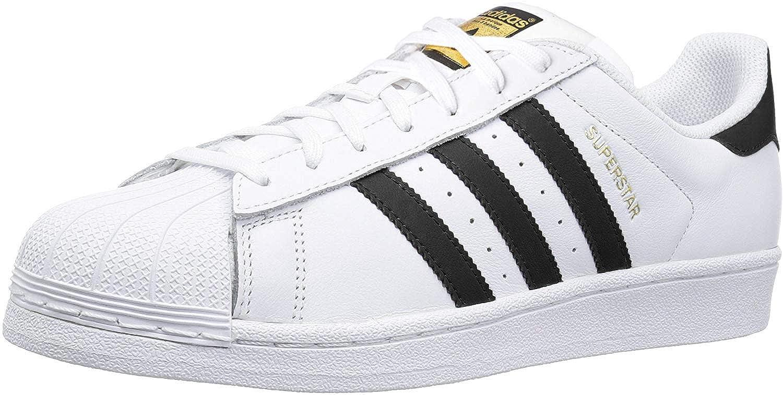 adidas Originals Men's Superstar Shoe Running Core BlackWhite, 4 M US