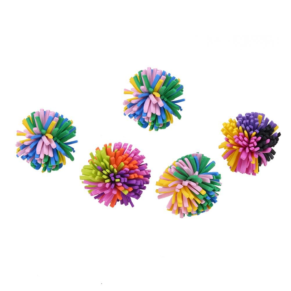 Seawang 5PCS//Pack plastica Palline Colorate Pet Cat Chew Chase Pet Toy Balls