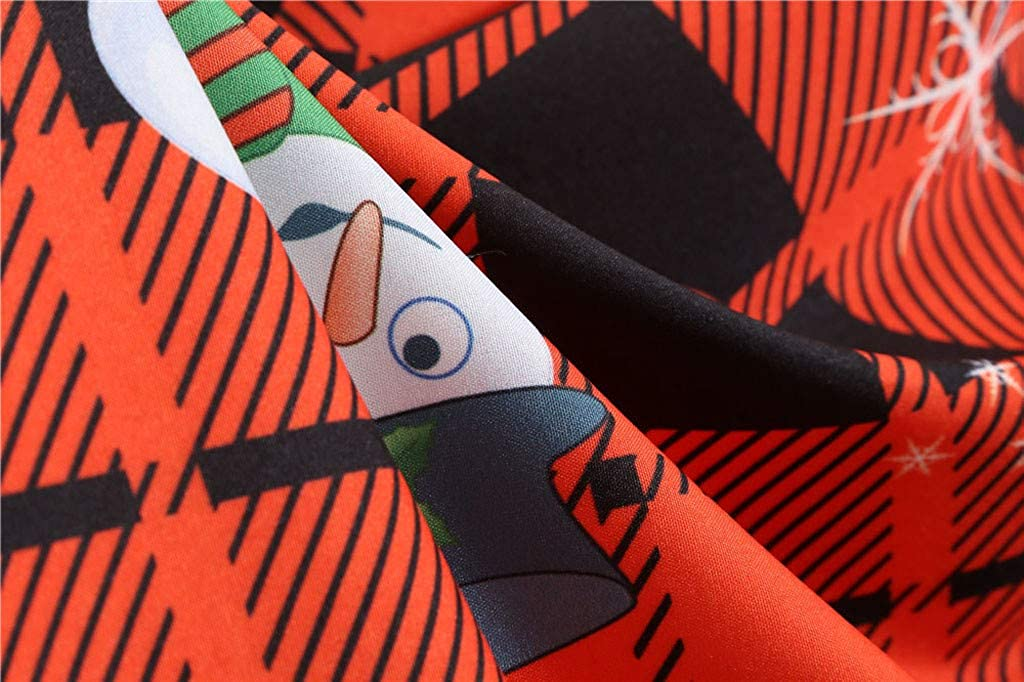 UOMOGO Natale Vestiti da Donna Invernale Senza Spalline Natalizi Abiti da Sera Anni 70 Vestito Vintage Elegante da Cerimonia Dress Festa Ragazza Floreale Abito Fiori Natalizia Tutu