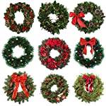 Sumind-4-Pieces-Metal-Flower-Wreath-Frames-Dark-Green-Wreath-Frame-for-New-Year-Valentines-Party-Decoration-8-Inch