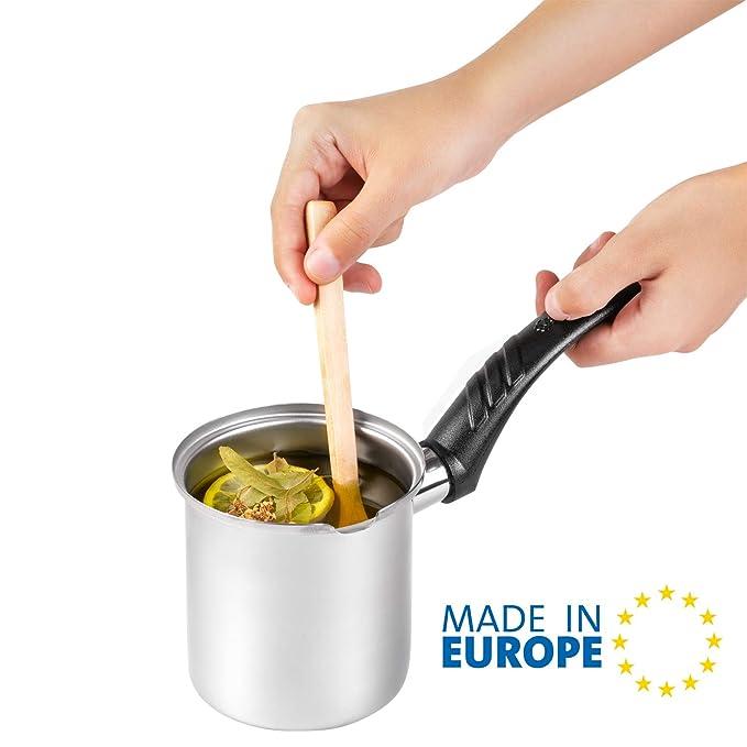 Cafetera turca, macetero para derretir mantequilla, calentador de ...