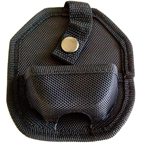 Best Black Handcuff Case With Secure Snap & Belt Loop - Universal Fit & Lightweight For Tactical Use & Police Officers ()