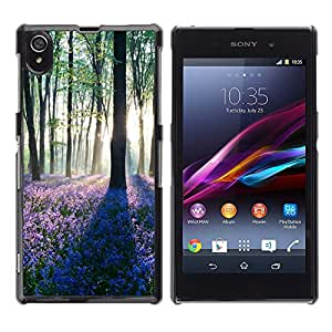 Hot Style Cell Phone PC Hard Case Cover // M00102146 nature dawn in forest // Sony Xperia Z1 L39