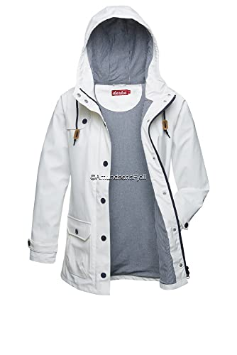 derbe Lluvia Chaqueta Peninsula Fisher White–Blue Striped