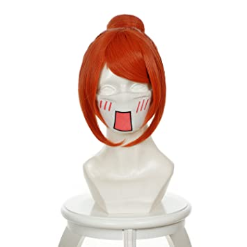 Cfalaicos Short Orange Hair / Gintama Kagura Cosplay Wig