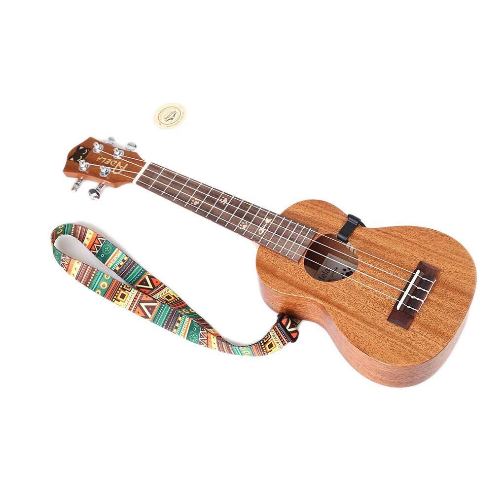 Morza Guitar Strap Ethnic Pattern Nylon Regolabile Clip da Cintura Regolabile su Ukulele la Cinghia della Cinghia Hook Accessori per Chitarra Sling