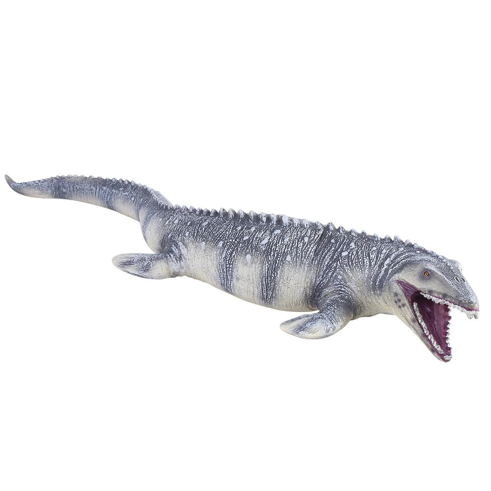 45cm Realistic Mosasaurus Model, Long Dinosaur Toy Animal Model Action Figures Soft Toy Figure Replica for Kids Toddler Great Gift Party Favor Collectors GLOGLOW