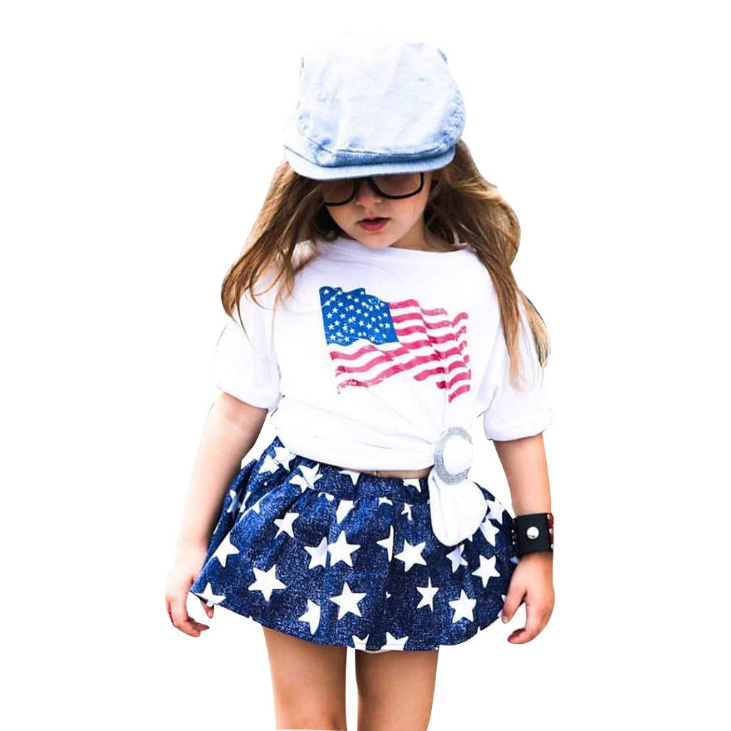 girls toddler children ruffle dress pants 4th of july outfit stars patriot sz 6t