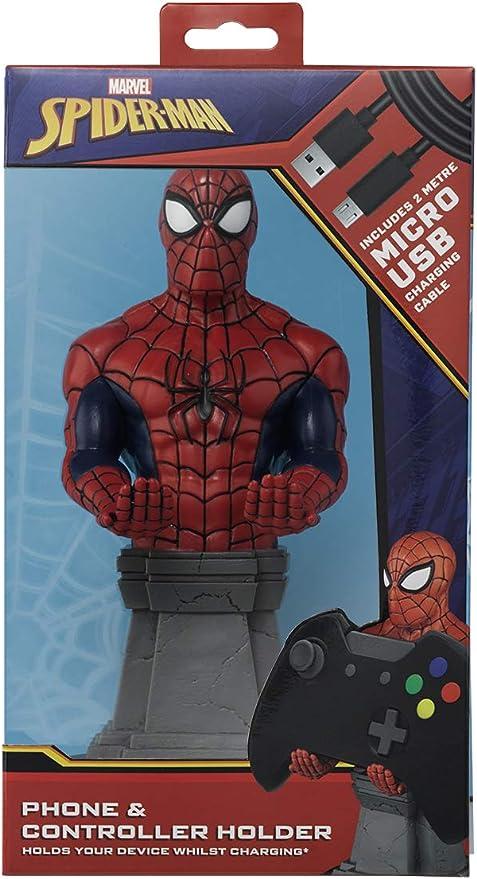 Cable guy Spiderman, soporte de sujeción o carga para mando de consola y/o smartphone de tu personaje favorito con licencia de Marvel. Producto con licencia oficial. Exquisite Gaming: Amazon.es: Videojuegos
