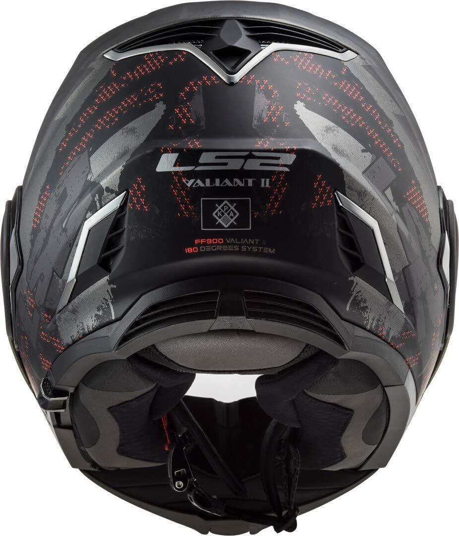 S Schwarz//Titanium LS2 Motorradhelm FF900 VALIANT II GRIPPER MATT TITANIUM