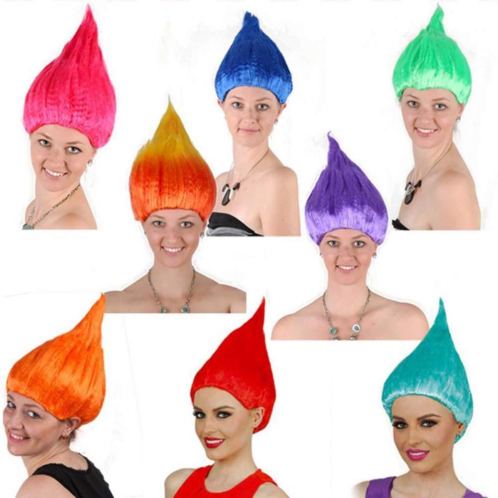 Pelucas Fiesta de Halloween Cosplay Poppy Wig For Kids Trolls ...