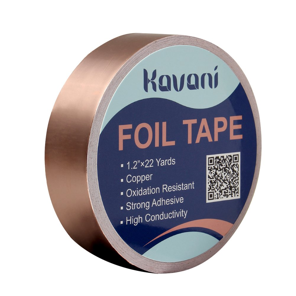 KAVANI Copper Foil Tape (1.2 Inch x 22 Yards/ 30mm x 20m) with Conductive Adhesive