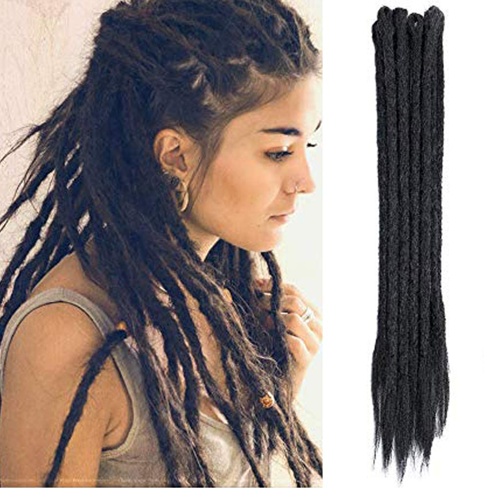 Natural texture. OMBRE SYNTHETIC DREADS full set double ended dreadlocks Soft dreadlocks
