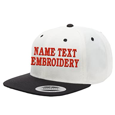 ee1c6ee3080 Yupoong 2tone Snapback Cap Custom Embroidery Hat Personalized Name Text Flat  Bill - Beige Black