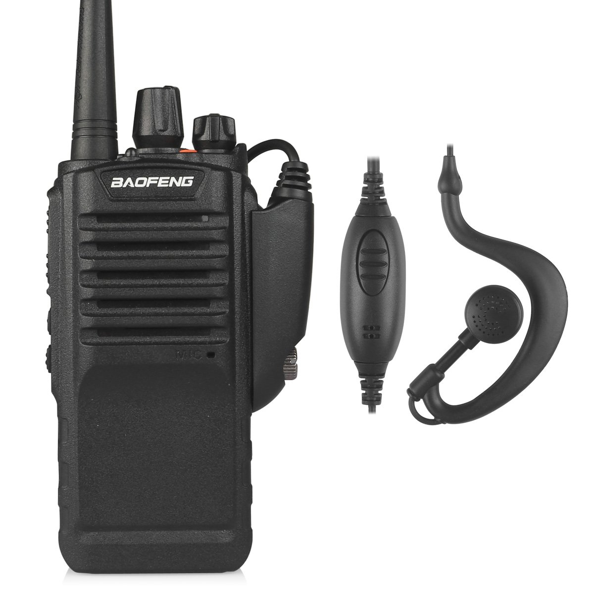 BaoFeng PoFung BF-9700 Dual Band Two-way Radio, IP67 Walkie Talkie Transceiver with High Gain Antenna, 2800mAh battery, 1 Programming Cable, Black