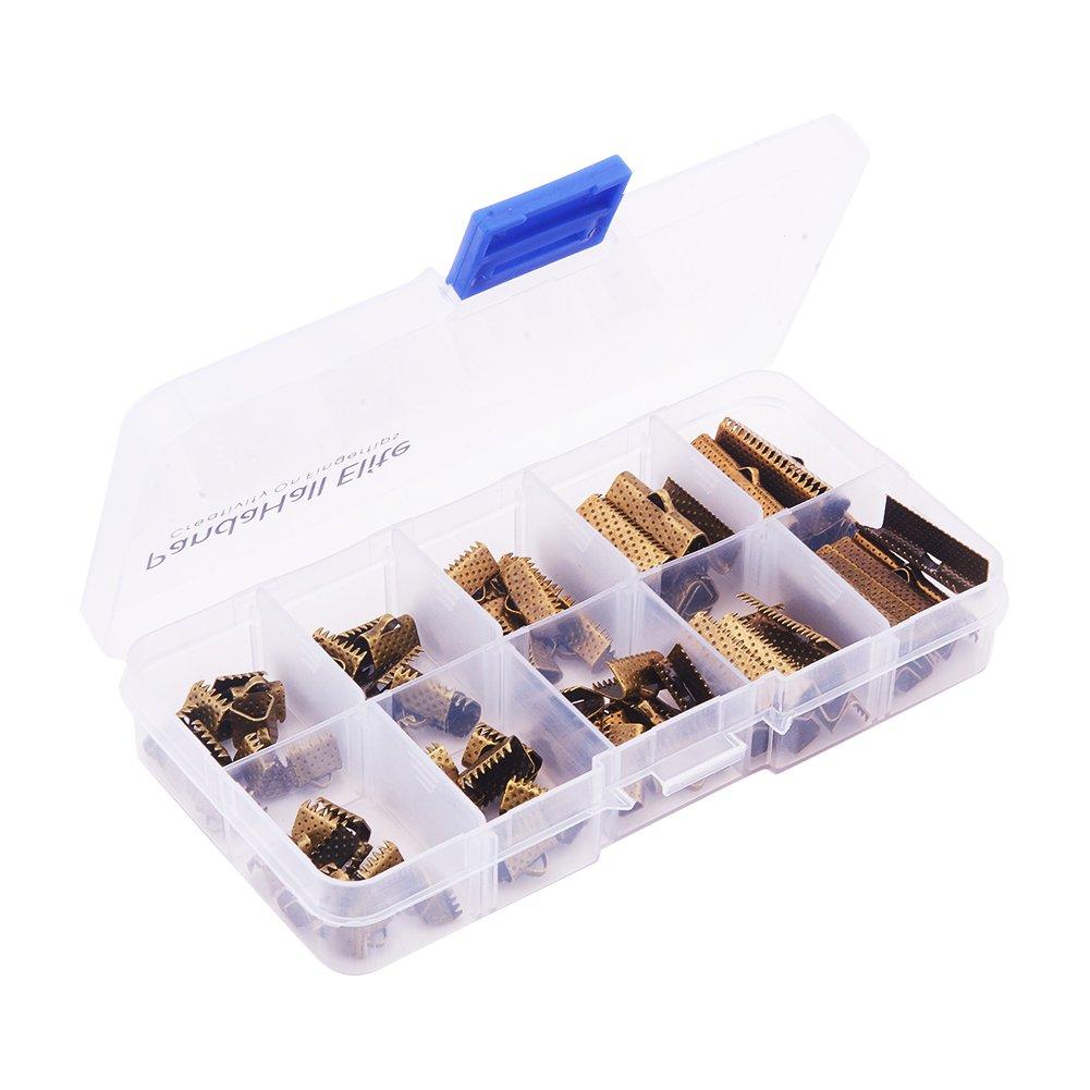 con los extremos de la cinta de hierro lat/ón langosta cierres garra y hierro cerca pero sin soldar anillas Pandahall Elite 1 caja Joyas encontrar sets color mezclado