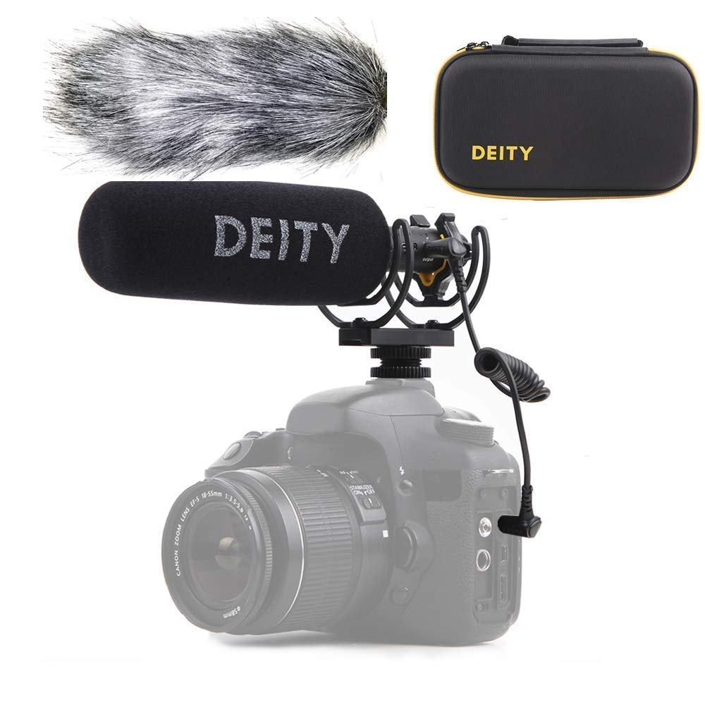 Deity V-Mic D3 Pro High SNR Super-Cardioid Directional Shotgun Microphone with Rycote Shockmount for DSLRs, Camcorders, Smartphones, Tablets, Handy Recorders, Laptop,Bodypack Transmitters, Wind Shield by Ginisfoto