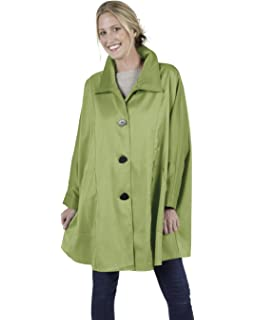 374cde873a629 Janska Penny Coat – Airy Women s All Weather Wear Button-Up Jacket with  Patch Pockets