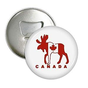 Moose Maple Leaf Canada Refrigerator Magnets Beer Bottle Opener Coke Bottle Wine Soda Openers Kitchen Magnet for Home Decor Pocket Size
