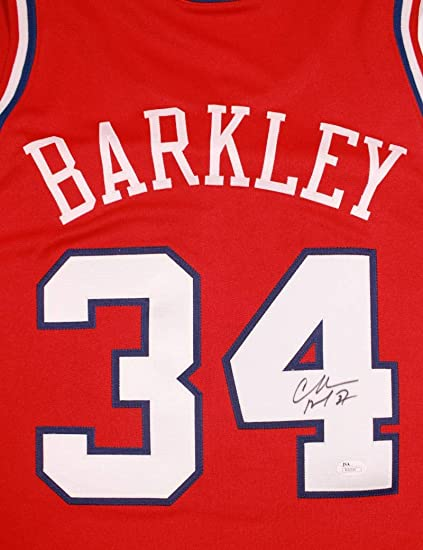 sneakers for cheap d252d 9c8c4 Charles Barkley Signed Philadelphia 76ers Jersey JSA ...