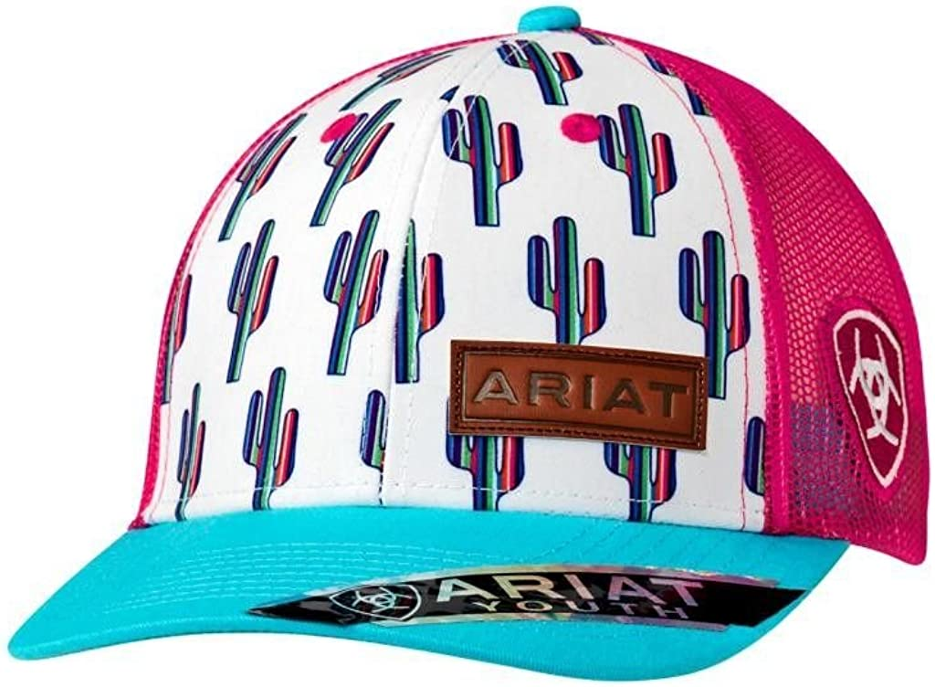 Ariat Brand Youth Girls Multi-Color Cactus Pattern Snapback Hat 1519105