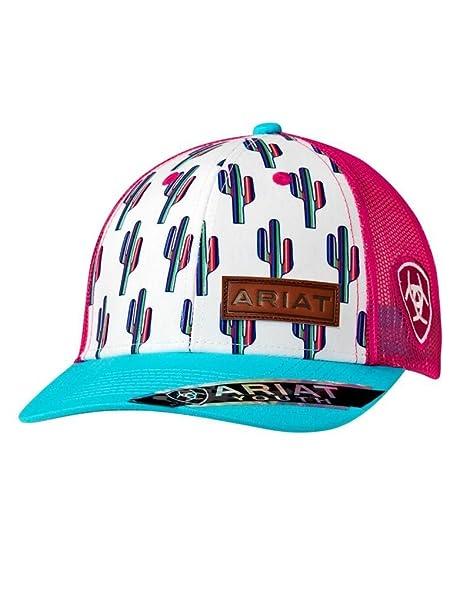 48a0f4d815174d Amazon.com: ARIAT Kid's Youth Multi Cactus Print Cap, Multi, OS: Clothing