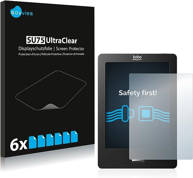 savvies Protector Pantalla Compatible con Kobo eReader Touch (6 Unidades) Pelicula Ultra Transparente: Amazon.es: Electrónica
