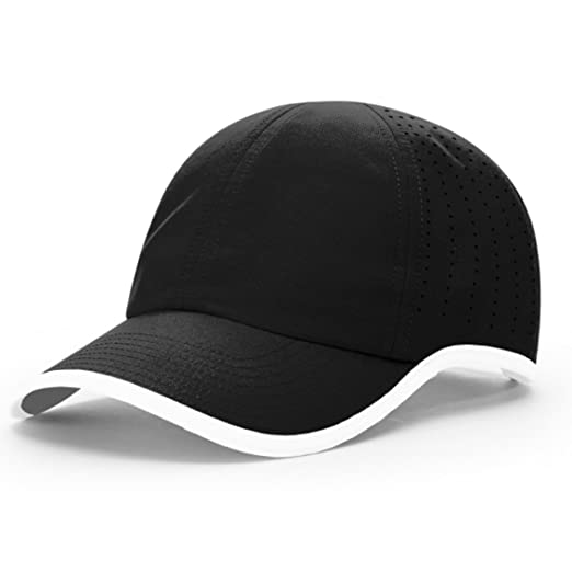 4fb574847754b 2040USA Richardson Unstructured R-Active Lite Performance Hat (Black White)