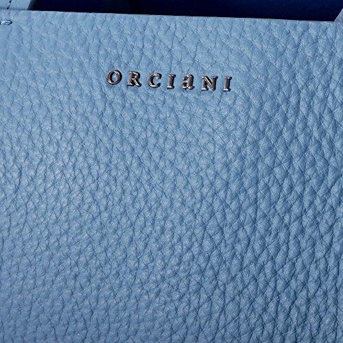 ORCIANI FEMME B01961 BLEU CLAIRE CUIR SAC TOTE