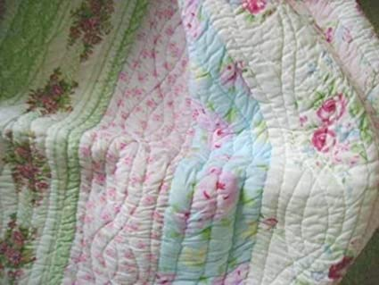 Super Finely Stitched Home Full Queen Quilt Set Shabby Patchwork Vintage Pink Rose Chic Download Free Architecture Designs Scobabritishbridgeorg