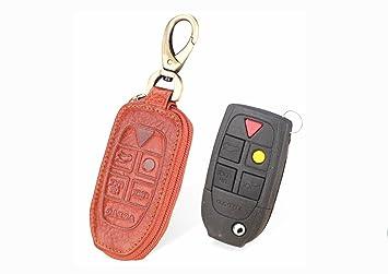 YUWATON Funda para llave de coche con llavero para Volvo ...