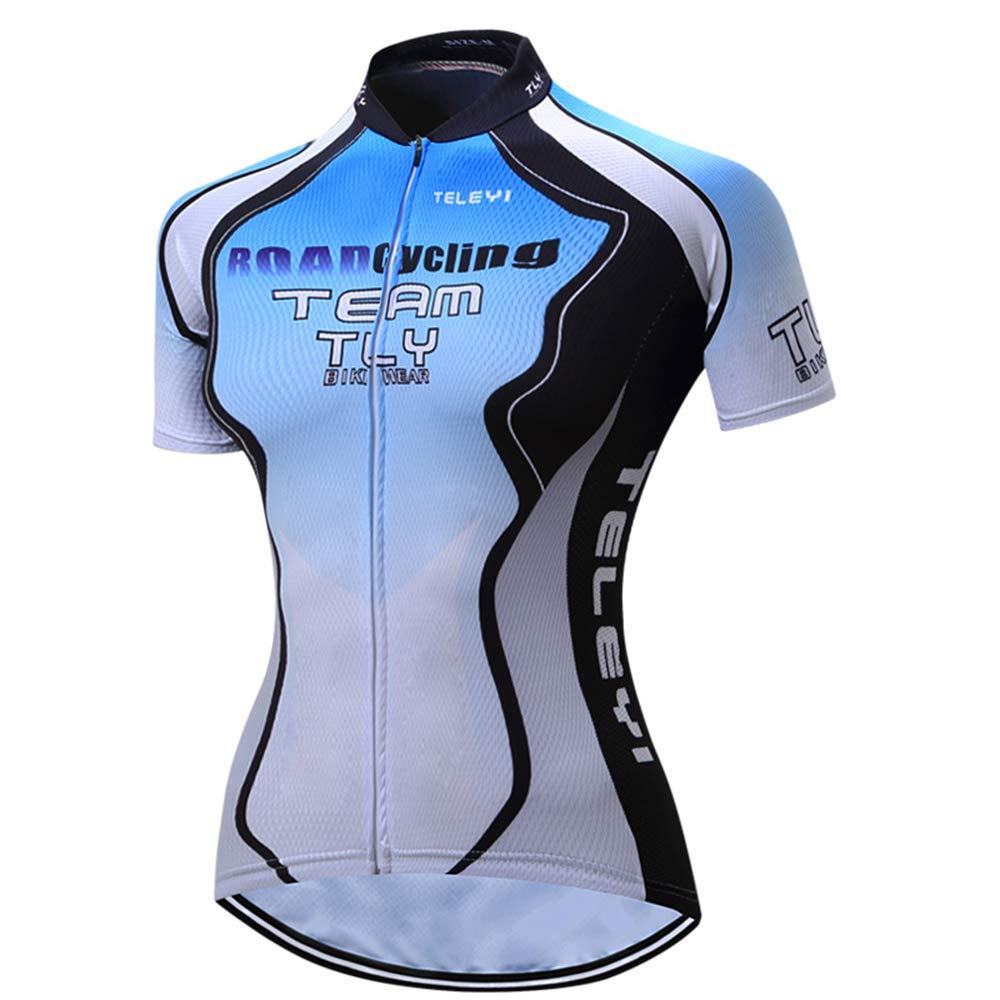 Womens Cycling Jersey Pro Bike Team Full Zipper Summer Short Sleeve MTB Shirt Tops Quick Dry Bicycle Clothing Jerseys
