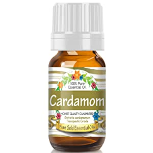 Pure Gold Cardamom Essential Oil, 100% Natural & Undiluted, 10ml
