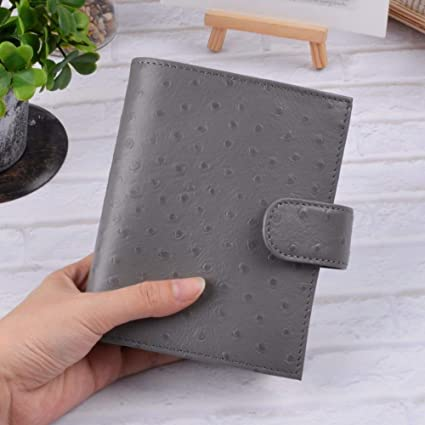 Amazon.com : Notebooks | Genuine Leather Rings Notebook A7 ...