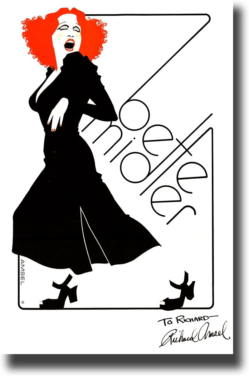 Bette Midler Poster Publicity Promo 11 x 17 inches Red Hair