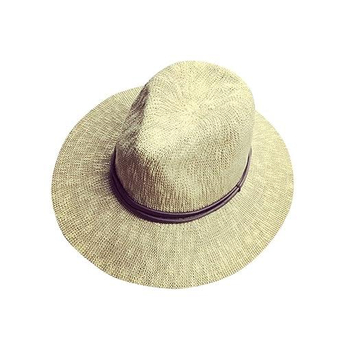 Yuncai Panama Cappello di paglia Tesa larga Cappelli della spiaggia