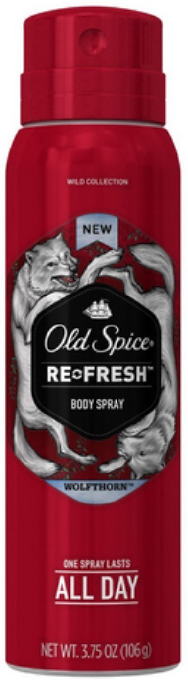 Old Spice Wild Collection Re-Fresh Deodorant Body Spray, Wolfthorn 3.75 oz Pack of 10