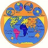HR'S 8FTX11FT KIDS EDUCATIONAL/PLAYTIME, NON-SLIP RUG 7FT.4INX10FT.4IN (8X8 WORLD MAP)