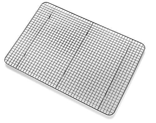 Plated Grid Chrome (Huji Cross-Wire Grid Cooling Rack, Wire Pan Grate,Baking Rack, Icing Rack, Chrome Plated Steel, (17