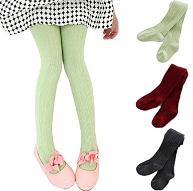 Amazon 3 Pack Baby Toddler Girls Cable Knit Cotton Tights
