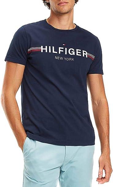 Tommy Hilfiger Corp Flag tee, Camiseta para Hombre: Amazon.es ...