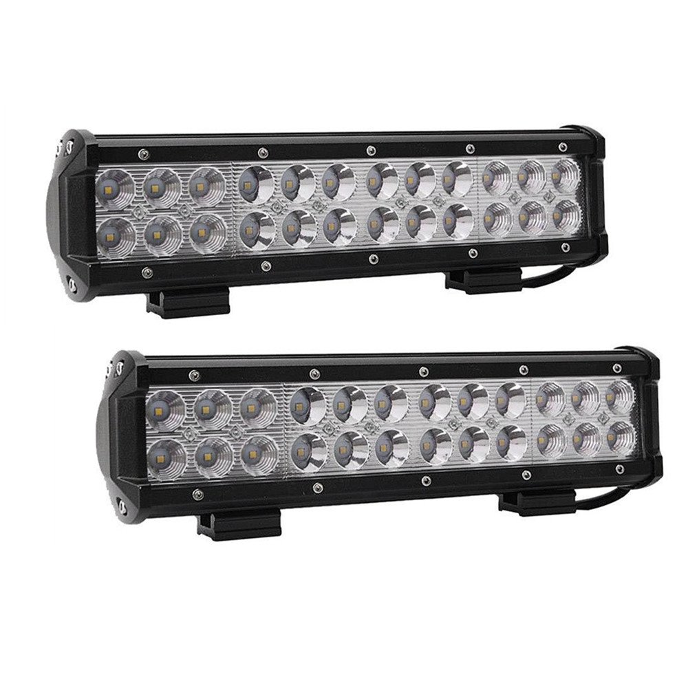 Lumitek 12 72W Led Light Bar Flood Spot Combo Off-road Light Bar,2PCS 18W Flood Led Pods Lights with 12V 40A On Off Power Switch Relay Remote Control Wiring Harness for Jeep,Truck,Car,ATV,SUV /…