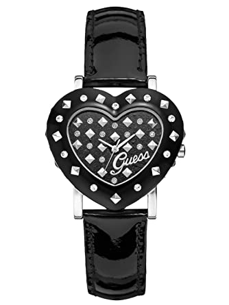GUESS Black Heart Watch