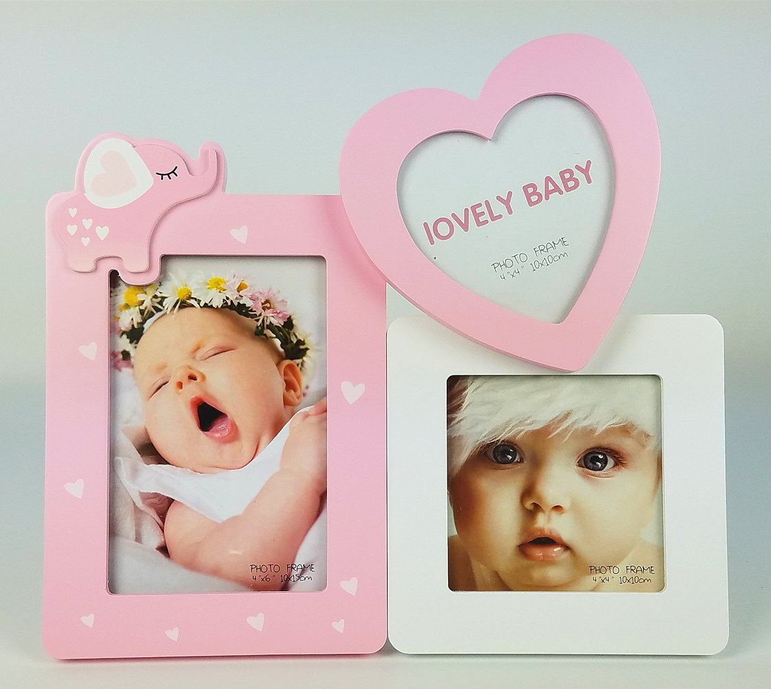 Home&me Home Decoration Baby Gift Wooden Cute Picture Photo Frame Set 3x3.5'' 5x7''