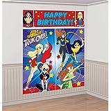 Amscan DC SuperHero Girl Scene Setters Wall Decorating Kit (2-Pack)