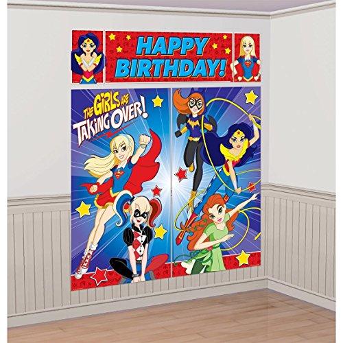 Amscan DC SuperHero Girl Scene Setters Wall Decorating Kit (2-Pack) ()